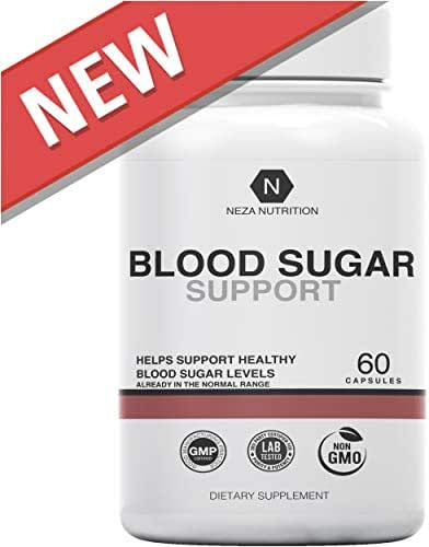 Blood Sugar Support Supplements: Natural Supplement Formula - Glucose Stabilizer with Cinnamon Cassia and Gymnema Sylvestre to Balance, Control, Support Levels by Neza Nutrition - 60 Capsules
