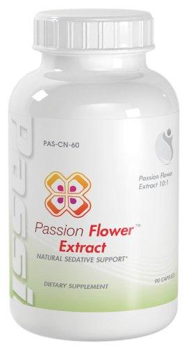 Passion Flower мощных природных Успокоительное стресс Поддержка Passion Flower Extract 900mg 90 Капсулы 1 бутылка