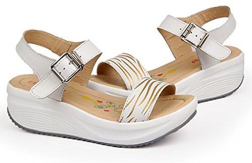 GFONE - Zapatos con tacón mujer blanco