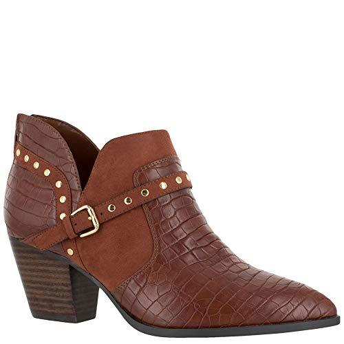 Bella Vita Women's ELODY II Ankle Boot, TAN Croc/SD, 8 XW US