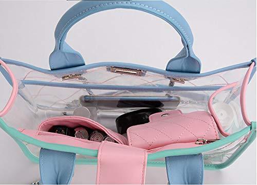 La bandoulière à Tout 5cm 30 22 Pink LIGYM Cuir en Sacs d'unité Centrale PVC 5 9 à Sacs Sacoche croisés bandoulière Mode fourre 6zFqFgwn4d
