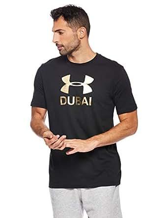 Under Armour Men's Dubai Graphic TEES AND T-SHIRTS, Black (Black/metallic Gold), 2X-Large