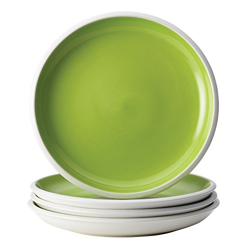 Rachael Ray Rise Dinnerware 4-Piece Salad Plate Set, Green