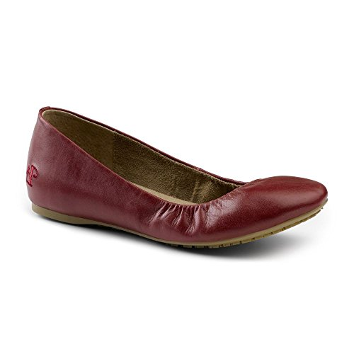 Lila Suregrip Womens Isabelle Red Ballet Flat Red