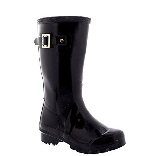 Unisex Kids Original Gloss Muck Rubber Wellingtons Garden Rain Snow Boot - 2 - DPU34 BL0199 (Kids Original Gloss Rain Boots)