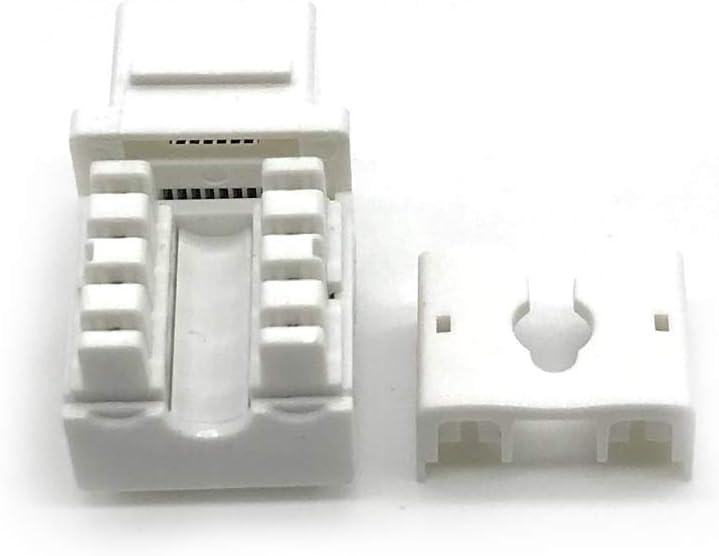Lapetus RJ45 Keystone Jack Ethernet Punch Down Cat 5 5e 6 Inserts Network Module 10-Pack White