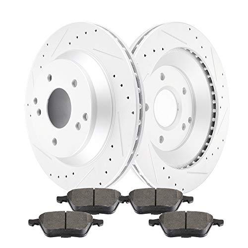 cciyu Front Premium Brake Rotors + Ceramic Brake Pads fit for 2006-2011 Audi A6,2005-2011 Audi A6 Quattro Audi A6 Quattro Front Rotors