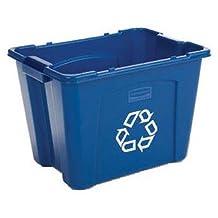 Rubbermaid Commercial Recycling Bin, 14-Gallon, Blue (FG571473BLUE)