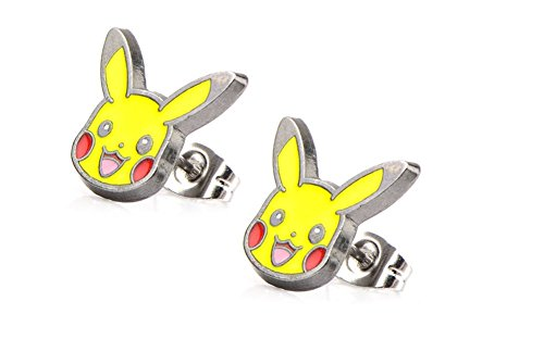 [Pokemon Character Stud Earrings (Pikachu Face)] (Pokemon Character Costumes)