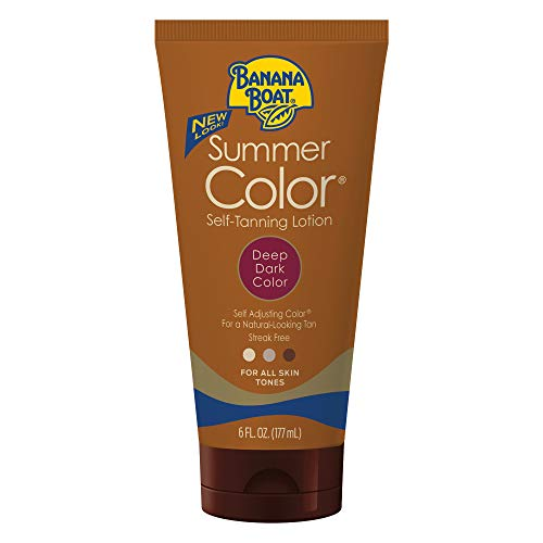 Banana Boat Self Tanning Sunless Lotion for a Natural Looking Tan, Deep Dark, 6 Ounce, Pack of 3