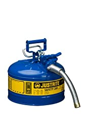Justrite AccuFlow 7225330 Type II Galvanized Steel Safety Can with 1\
