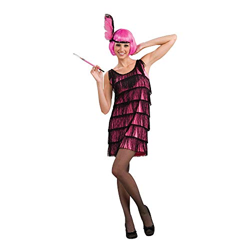 Woman's Jazzy Flapper Costume, Pink/Black, Medium/Large
