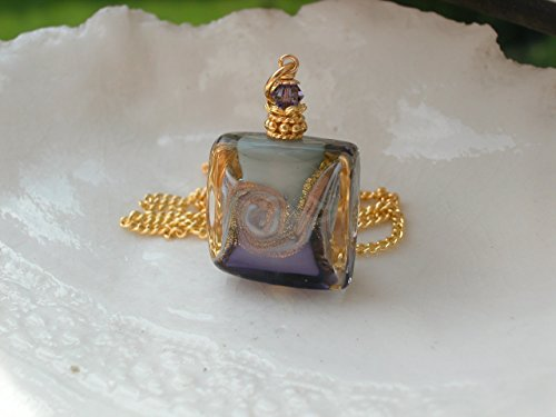 Purple Murano Square Necklace