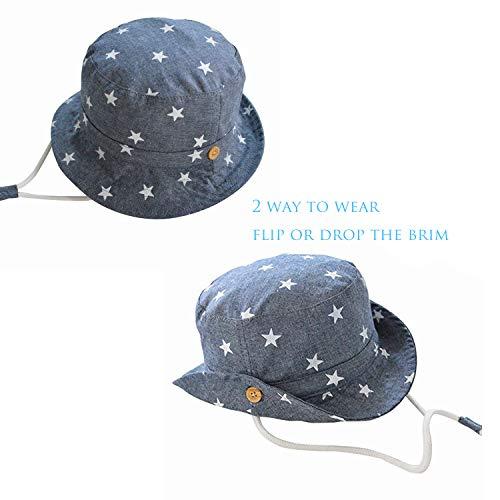Zeltauto Kids Cotton Bucket Hat Reversible Sun Summer Cap