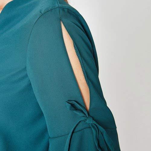 Femme Vert Promod Blouse cache meraude coeur 1UU80w
