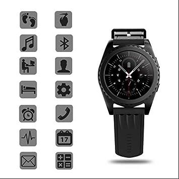 Smartwatch Relojes Deportivo Relojes Inteligentes,Monitor de Dormir,Retroiluminación LED,Podómetro,Bluetooth compatible,Sensor de ritmo cardíaco,con ...