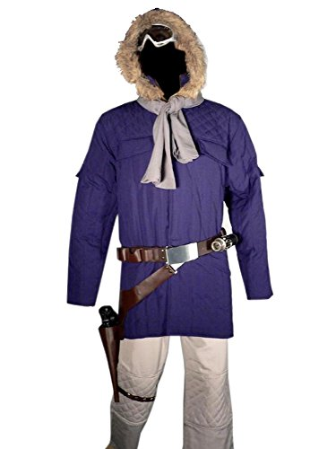 Han Solo Hoth Rebel Trooper Hooded Jacket & Pants Costume + Free Yavin Medal (L) -