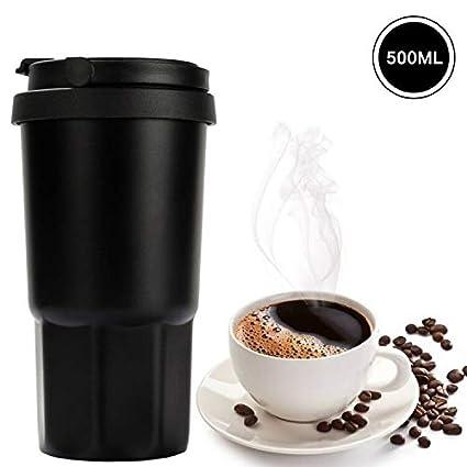Vaso Termico Café Termo Taza Termica Viaje Botella Acero Inoxidable Agua Para Llevar Sin Bpa Caño Seguro 12 STD Mantener Caliente & 8 STD ...