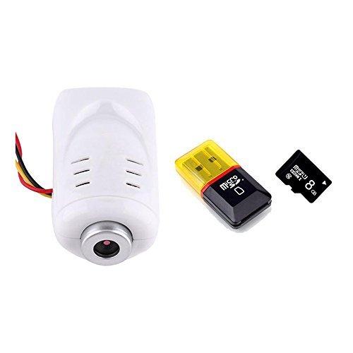 Cámara de 5MP 1080P HD con tarjeta de memoria de 8GB para Syma X5°C X5x5hc x5hw RC Drone Quadcopter accesorios X5°C de actualización Piezas de repuesto (blanco)