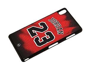 Protección Case Cover Funda Cascara para Sony Xperia Z3 Michael Jordan 23 Basketball Team NBA Ball Team Players Michael Jordan Kool Bull Popular Classic Trendy Vintage Duraterm Technology