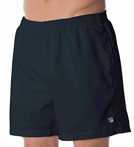 Lined Tennis Shorts (Fila Men's Fundamentals Clay Shorts, Black, L)