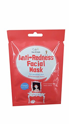 Price comparison product image 5 Mask Sheets of Cettua Clean & Simple Anti-Redness Facial Mask.