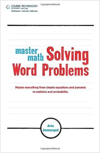 Master Math: Solving Word Problems: Brita Immergut: 9781598639834 ...