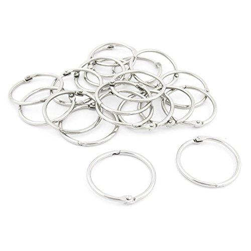 Metal Loose Leaf Binder Rings Key Rings -Copapa (2-inch) (2 Inch Loose Leaf Rings)