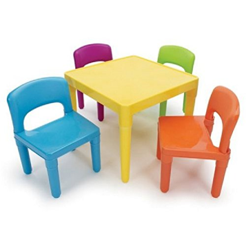 Activity Table Kids Play Indoor Outdoor : Kids Table and Chairs Play Set Toddler Child Toy Activity Furniture In-Outdoor : Toddler Set Play Plastic by Phumon567