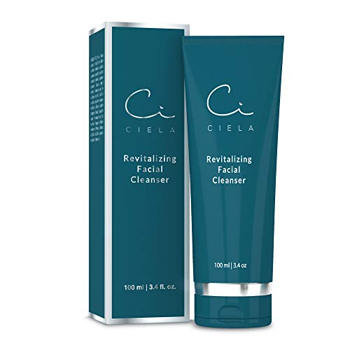 Ciela Revitalizing Daily Face Wash Cleanser - Improve Dry Sensitive Or Oily Skin, Exfoliating Organic Scrub and Anti Aging Formula For Women