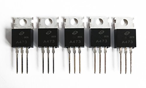 - 5-Pack, 2SA473 PNP Silicon Power Transistor in TO-220 Package