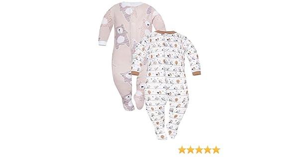Sibinulo Ni/ño Ni/ña Pijama Beb/é Pelele de Algod/ón Pack de 3 Tama/ños 56-74