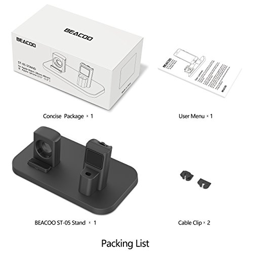 Apple Watch Stand, BEACOO Charging stand Dock Station -- Support Apple Watch NightStand Mode and iPhone 7/7 plus/SE/5s/6S/PLUS with Various Case (Black) by BEACOO (Image #5)