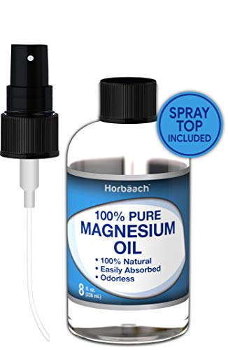 Horbaach Magnesium Oil Spray 8 oz (100% Pure Premium Grade) | Muscle and Joint Relief