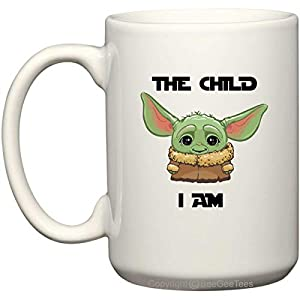BeeGeeTees The Child I Am Funny Baby Cute Coffee Mug Office Tea Cup (White – Ceramic, 15 oz)