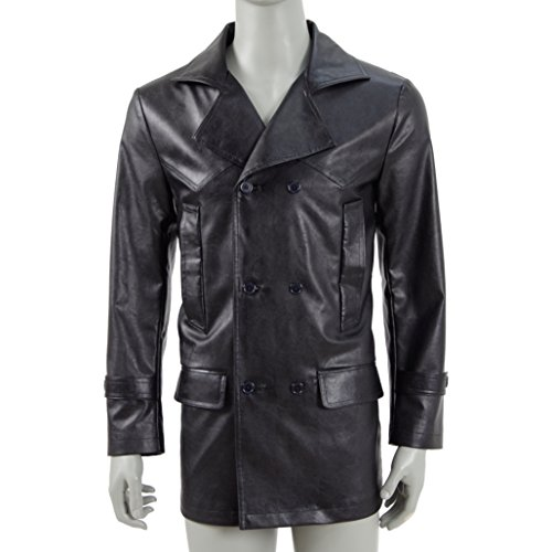 Men's Black Jacket Cosplay Hot Drama Doctor Nine for (The 9th Doctor Costume)