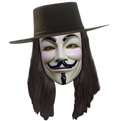 V For Vendetta Costume Wig (V For Vendetta Official Deluxe Hat, Mask, Wig Combo-Officially Licensed)