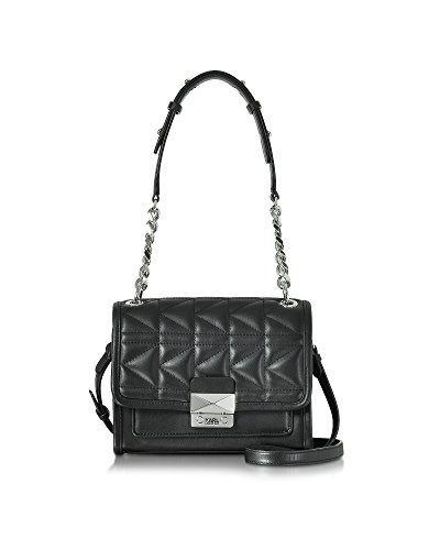 karl-lagerfeld-womens-71kw3046-black-leather-shoulder-bag