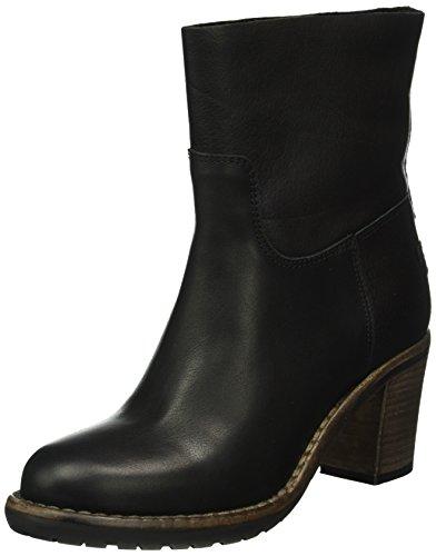 Shabbies Amsterdam 16cm Tubobooty Caramato Sole Black Lee, Zapatillas de Estar por Casa para Mujer Negro
