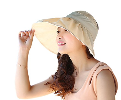 OK248 Womens Reversible Cap Anti-UV UPF 50+ Sun Shade Foldable Wide BrimHat