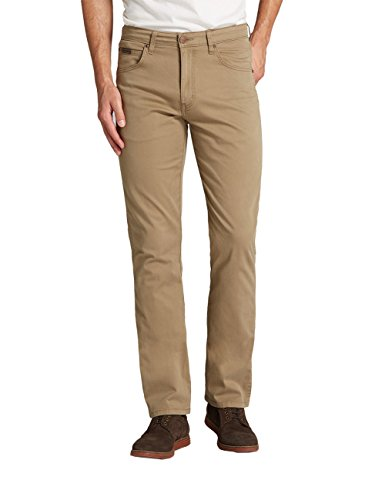 Wash safari Stretch Uomo Khaki Jeans Braun Straight Wrangler Arizona qF688p