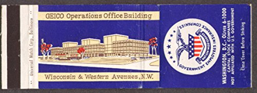 geico-operations-offfice-bldg-washington-dc-matchcover