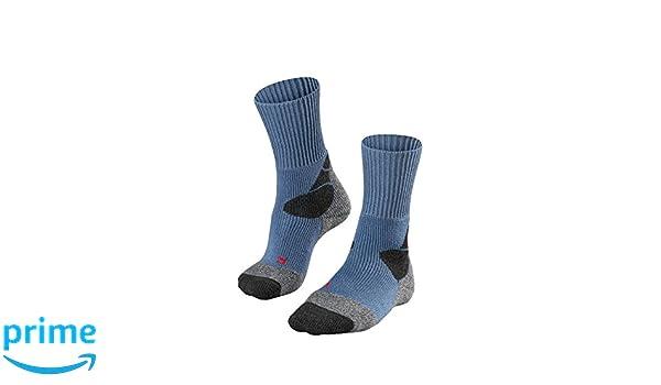 FALKE TK 4 Calcetines de Senderismo para Mujer, Otoño-Invierno, Mujer, Color Azul, Gris Oscuro, tamaño 35-36: Amazon.es: Deportes y aire libre