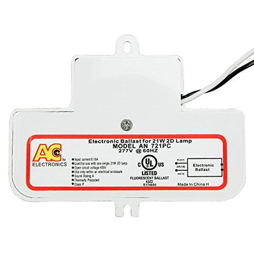 AC Electronics AN-721PC - 1 Lamp - 21 Watt 2D CFL - 277V - Rapid Start - 0.90 Ballast Factor