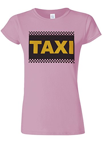 ヶ月目飼いならす傾向があるTaxi Cab Funny Novelty Light Pink Women T Shirt Top-XXL