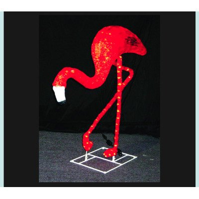 (Queens of Christmas WL-FLMG-04 Flamingo Decorative Figurine, 4' Tall,)