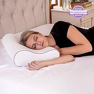 SensorPEDIC Temperature Regulating Coolest Comfort Contour Memory Foam Bed Pillow, Oversized, White