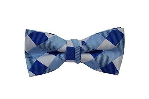 Multi Color Bow Tie (Born to Love - Boys Kids Pre Tied Adjustable Bowtie Bow Tie 4 Inches (Multicolor Checkers))