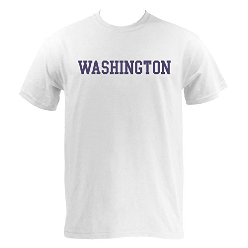 Washington Block (Washington Huskies Block Basic T-Shirt - Large - White)