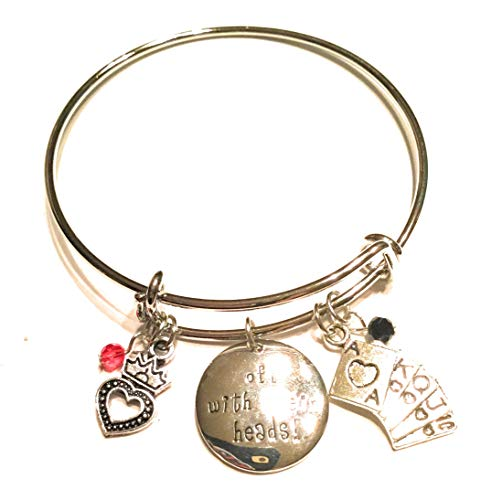 Ivy & Clover Charm Bracelet Collection (Queen of Hearts Inspired Off with Their Heads Bangle)